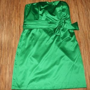 The Limited Bright Green Strapless Party Dress NWT
